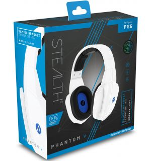 Cuffie Gaming Stereo Phantom V (Bianco, PS5, PS4, Xbox Series, Switch, PC)