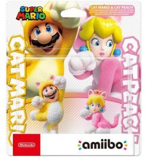 Amiibo Super Mario - Mario Gatto + Peach Gatto