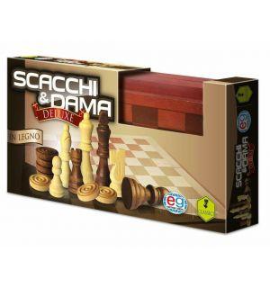 Scacchi E Dama - Deluxe (In Legno)