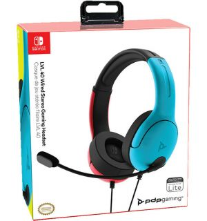 Cuffie Gaming Stereo LVL40 (Rosso/Blu, Switch, Switch Lite)