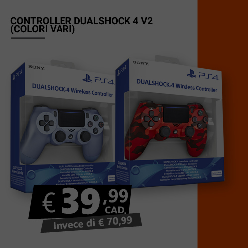 Offerta Controller Dualshock 4 V2 Black Friday
