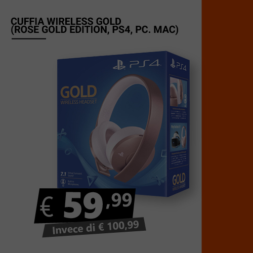 Offerta Cuffia wireless Gold Rose (PS4-PC-MAC) Black Friday