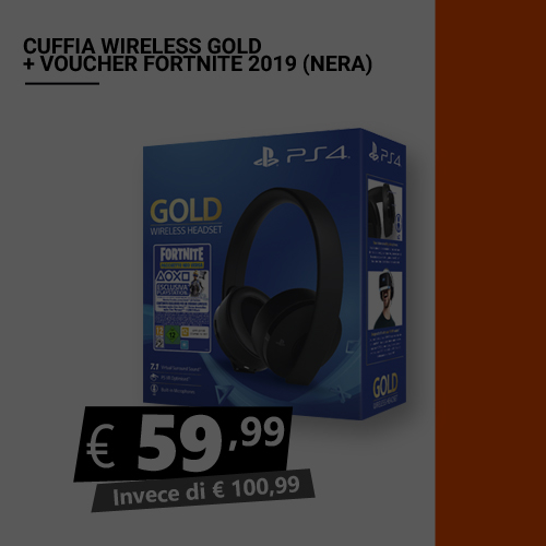 Offerta Cuffia wireless Gold più voucher Fortnite (nera) Black Friday