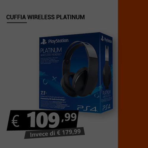 Offerta Cuffia wireless Platinum Black Friday