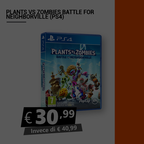 Offerta Plant Vs Zombie Battle For Neighborville