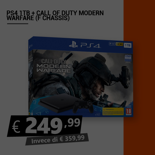 Offerta PS4 1TB più Call Of Duty Modern Warfare Black Friday