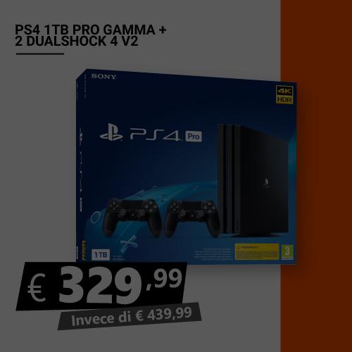 Offerta PS4 1TB Pro Gamma più 2 dualshock Black Friday