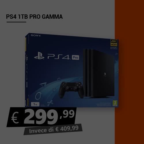 Offerta PS4 1TB Pro Gamma Black Friday
