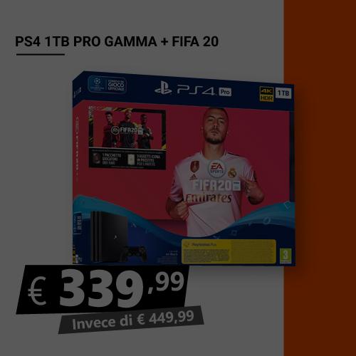 Offerta PS4 1TB Pro Gamma più Fifa 20 Black Friday