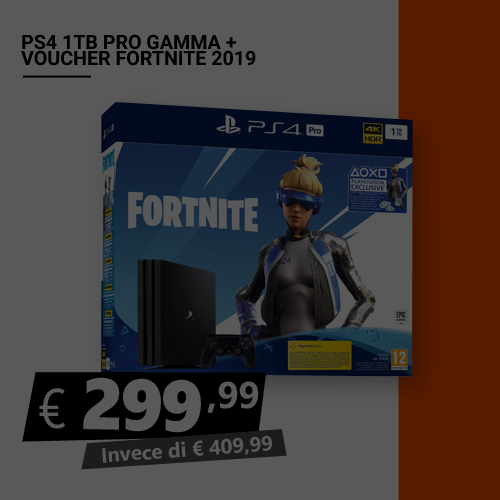 Offerta PS4 1TB Pro più Voucher Fortnite Black Friday