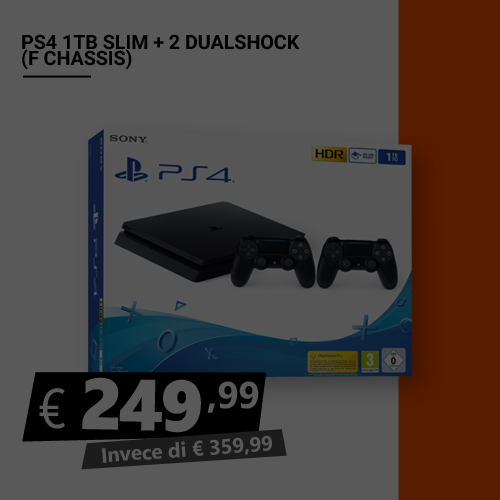 Offerta PS4 1TB Slim più 2 dualshock Black Friday