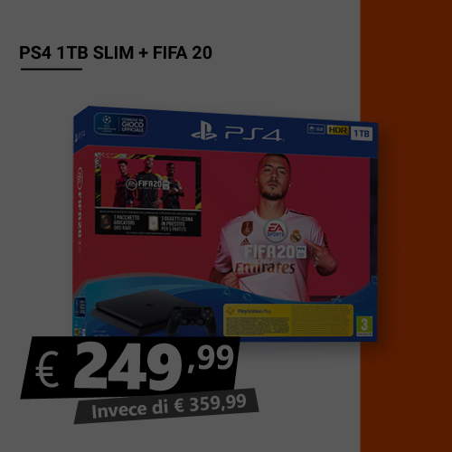 Offerta PS4 1TB Slim più Fifa 20 Black Friday
