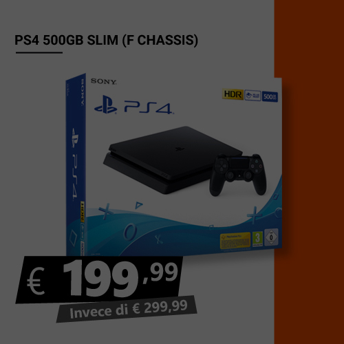 Offerta PS4 500GB Slim Black Friday