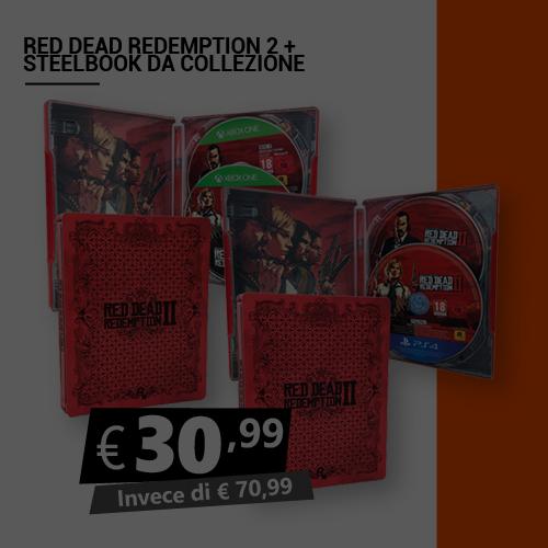 Offerta Red Dead Redemption 2 più Steelbook da collezione