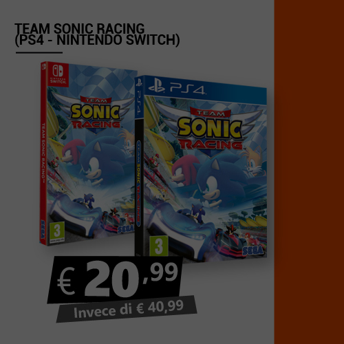 Offerta Team Sonic Racing Black Friday