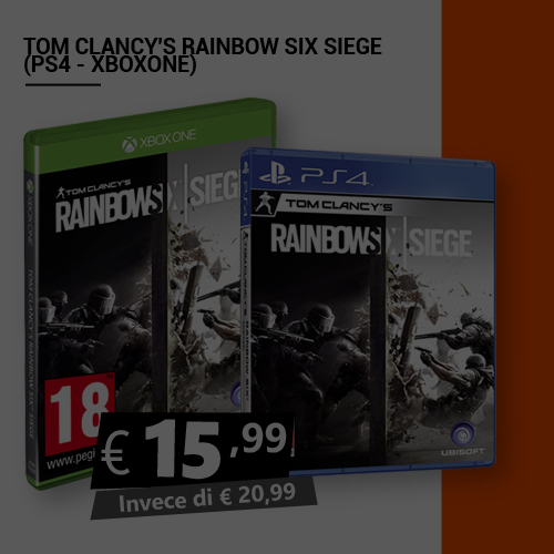 Offerta Tom Clancy's Rainbow Six Siege Black Friday