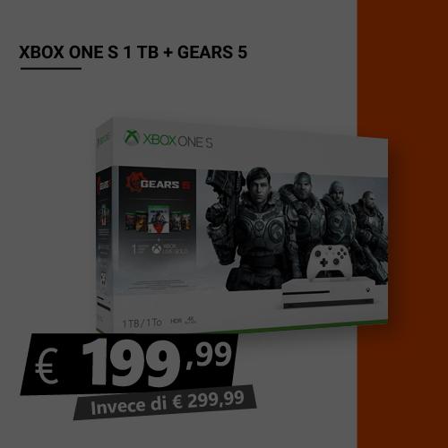 Offerta Xbox One S 1TB Più Gears 5